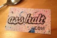 Ass Halt Sticker